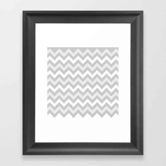 chevron #9 Framed Art Print
