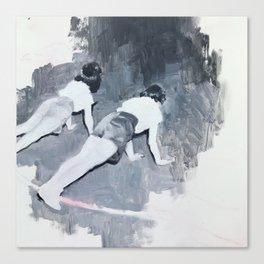 Push-ups Canvas Print