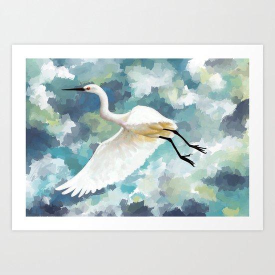 Florida Egret Art Print