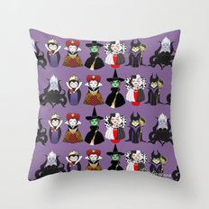 Evil kokeshis Throw Pillow