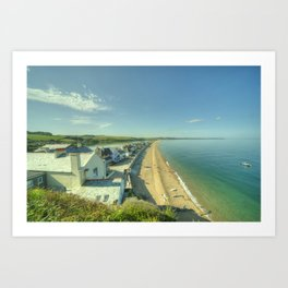 Torcross and Slapton Ley  Art Print