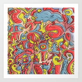 detailed thought Art Print