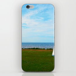 Long Bridge and Tiny Lighthouse iPhone Skin
