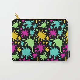 Colorful Paint Splatter Pattern Carry-All Pouch