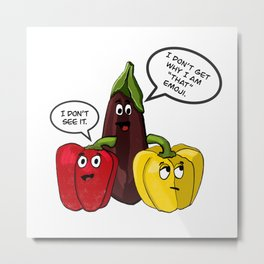 Eggplant Emoji Metal Print