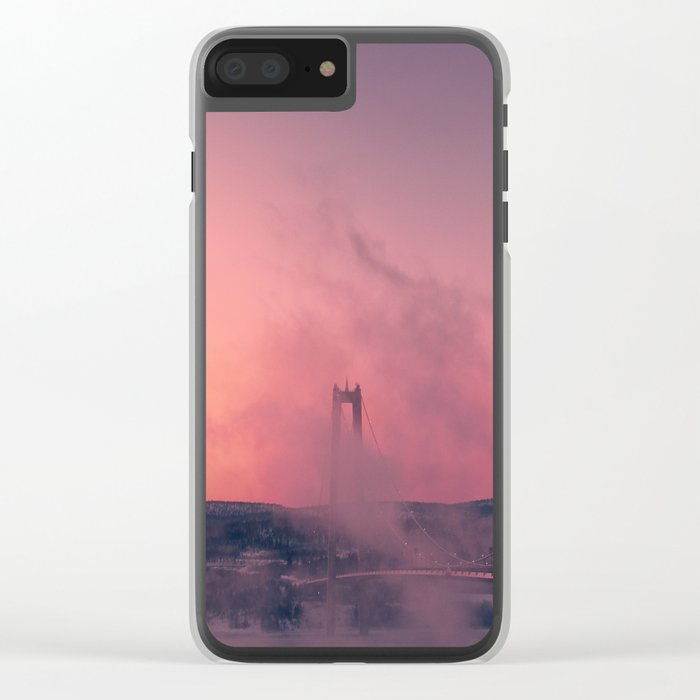Cool Mornings Clear iPhone Case