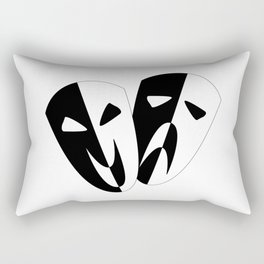 Black and White Stage Masks Rectangular Pillow