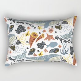 Sea Pattern #1 Rectangular Pillow
