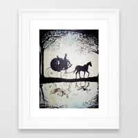 cinderella Framed Art Prints featuring Cinderella  by Lamont Powell