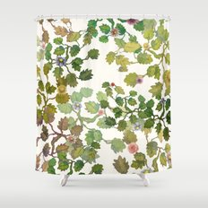 water color garden with flowers! ( Shower Curtain