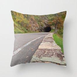 Shenandoah Skyline Tunnel Drive Throw Pillow