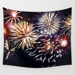 celebration fireworks Wall Tapestry