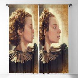 Elsa Lanchester, Vintage Actress Blackout Curtain
