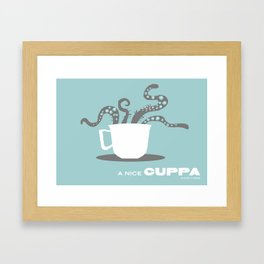 A Nice Cuppa, Tentacles and Winter Things Framed Art Print