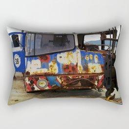 Old crane near St. Tropez at Grimaud beach. Rectangular Pillow