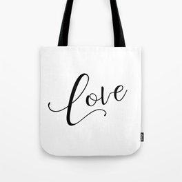 Love in black and white Tote Bag