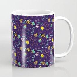 Flora & Beetles (purple) Coffee Mug