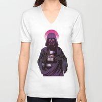 sith V-neck T-shirts featuring Holy Sith by That Design Bastard
