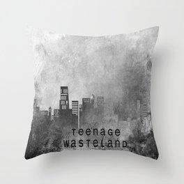 Teenage Wasteland Throw Pillow
