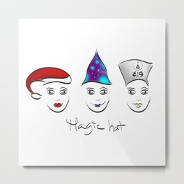 Magic hat of Christmas Metal Print