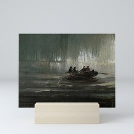 The Northern Lights over Four Men in a Rowboat by Peder Balke Mini Art Print