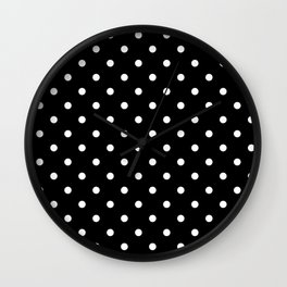 Black & White Polka Dots Wall Clock