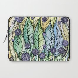 Dandelions.Hand draw  ink and pen, Watercolor, on textured paper Laptop Sleeve