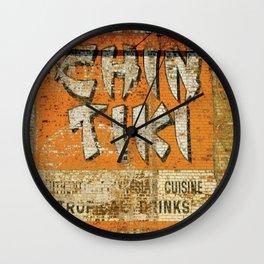 Chin Tiki Wall  Wall Clock