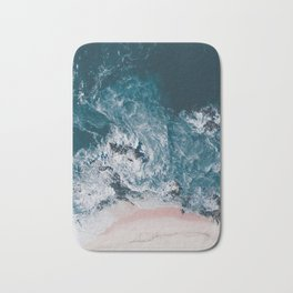 I love the sea - written on the beach Bath Mat