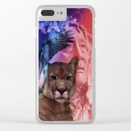 Native American Indian Clear iPhone Case