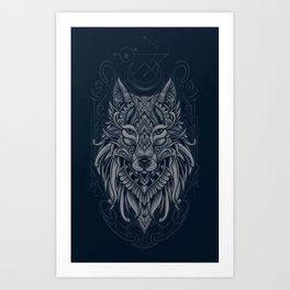 Wolf of North - Art Print