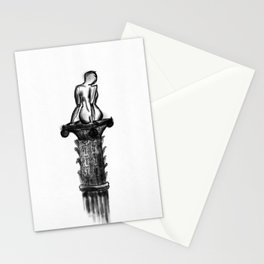 Woman on a pedestal Stationery Cards