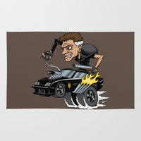mad max Area & Throw Rugs featuring Mad Maxfink by Doodle Dojo