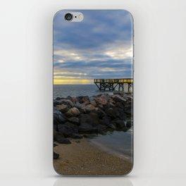 Yorktown Fishing Pier at Sunrise iPhone Skin