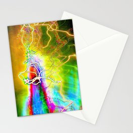 SYNESTHESIA Light Painting Experiment 113 Stationery Cards