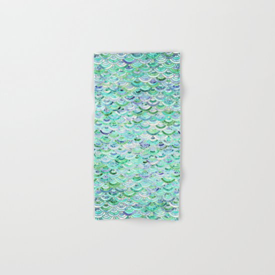 Marble Mosaic in Mint Quartz and Jade Hand & Bath Towel