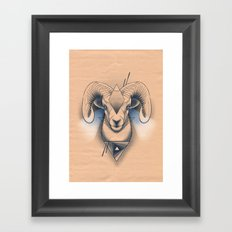 Capricorn / Ram Framed Art Print