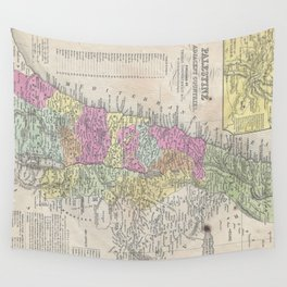 Vintage Map of Palestine (1853) Wall Tapestry