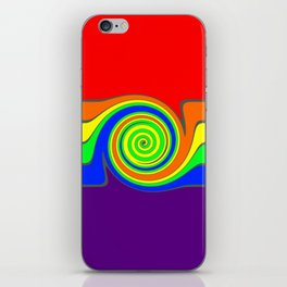 Rainbow With A Headache iPhone Skin