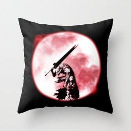 Berserker Moon Throw Pillow
