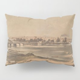 Vintage Pictorial View of Richmond VA (1853) Pillow Sham