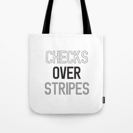 CHECKS OVER STRIPES Tote Bag