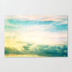 Pastel Abstract Sky  Canvas Print