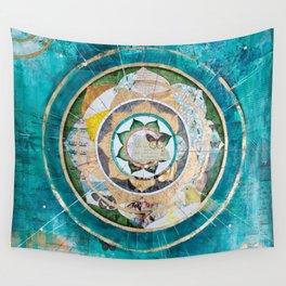 Blue Mandala Wall Tapestry