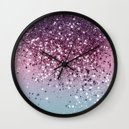 Unicorn Girls Glitter #6 #shiny #pastel #decor #art #society6 Wall Clock