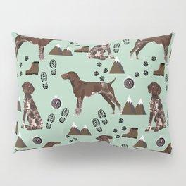 German Shorthair Pointer mountain hiking hiker outdoors camping dog breed Pillow Sham