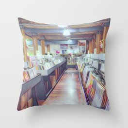 Records On Records Throw Pillow