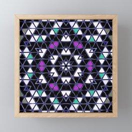Brilliant Star Triangle Pattern Framed Mini Art Print