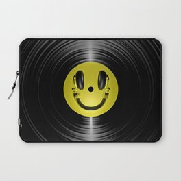 Vinyl headphone smiley Laptop Sleeve