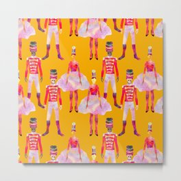 Nutcracker Ballet - Marigold Gold Yellow Metal Print